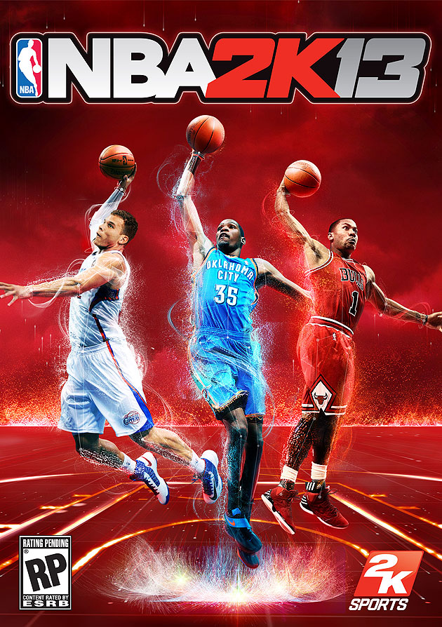 Your NBA 2K13 cover athletes are Blake Griffin, Kevin Durant, a…