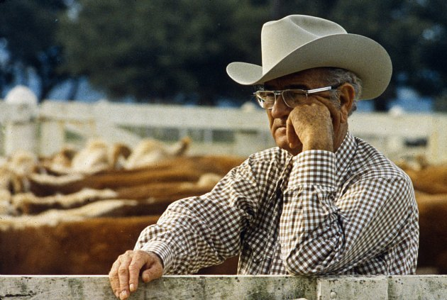 Lyndon Baines Johnson considers the Earth's mysteries (Frank Wolfe/ Getty).