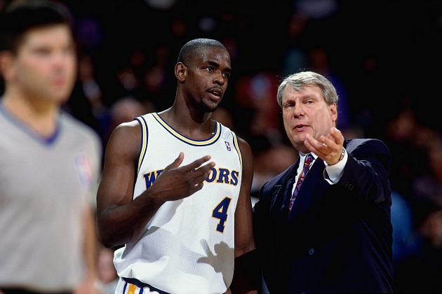 Chris Webber and Don Nelson argue about literally any topic (Andrew D. Bernstein/ Getty).