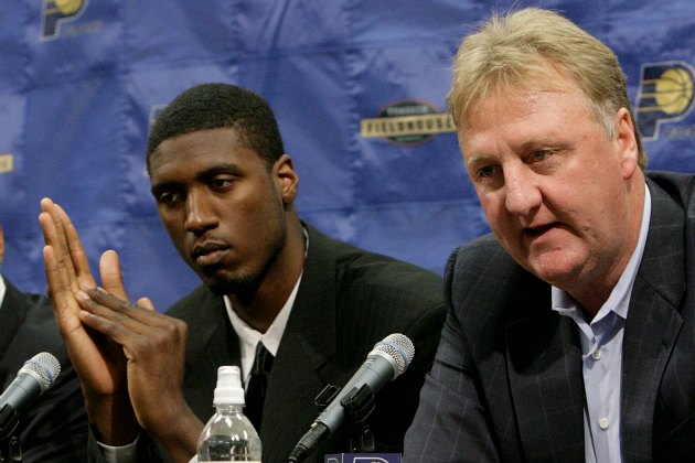 Roy Hibbert began plotting his scheme on the day he became a Pacer (Ron Hoskins/ Getty).