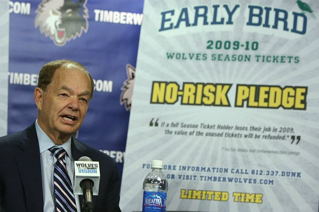 In 2009, Glen Taylor unveiled the most depressing pledge ever (David Sherman/ Getty).