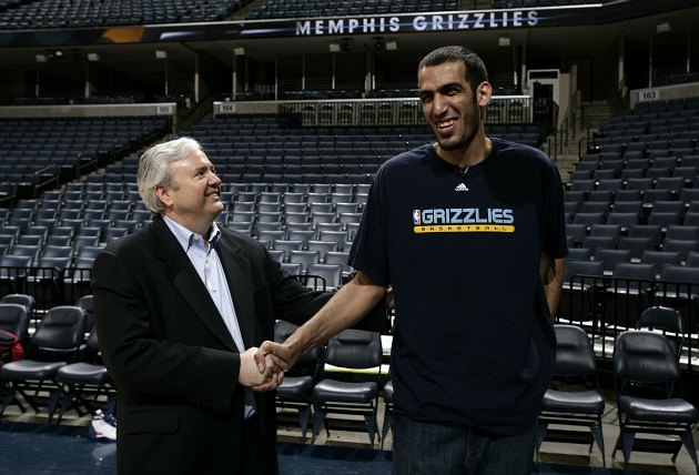Grizzlies GM Chris Wallace does business with an Iranian center (Joe Murphy/ Getty).