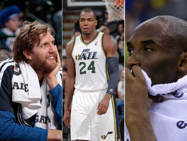 Dirk Nowitzki, Paul Millsap, Kobe Bryant (Getty Images)