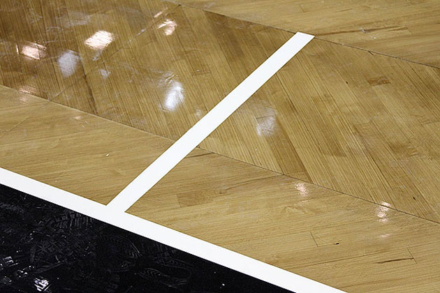 A closer look at the Barclays Center court. (Photos via www.nba.com/nets)