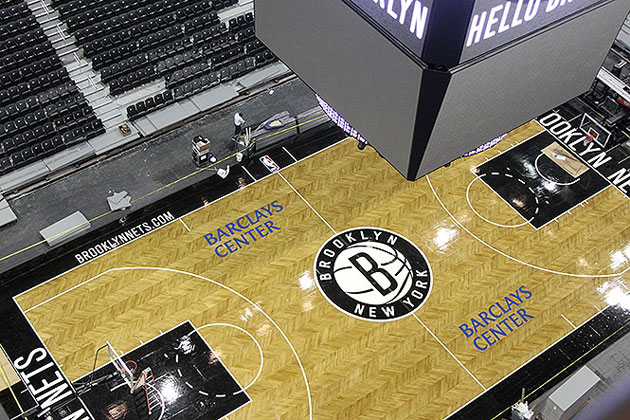 A look from above. (Photo via www.nba.com/nets)