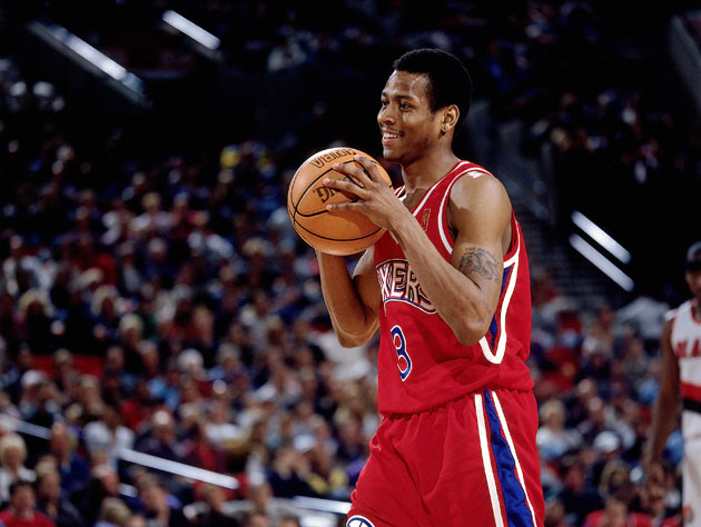 Allen Iverson, during his rookie year (Getty Images)