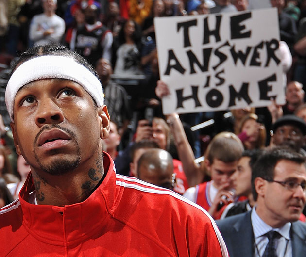 Allen Iverson during what should have been the completion of his legacy (Getty Images)