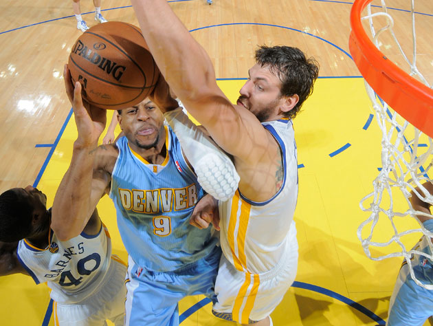 Andre Iguodala doesn't beat 'em, joins 'em (Getty Images)