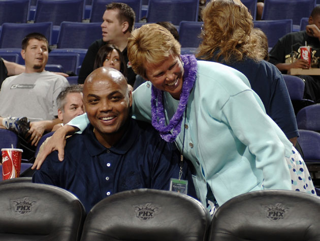 Ann Meyers has already called more NBA games than the man to her right (Getty Images)