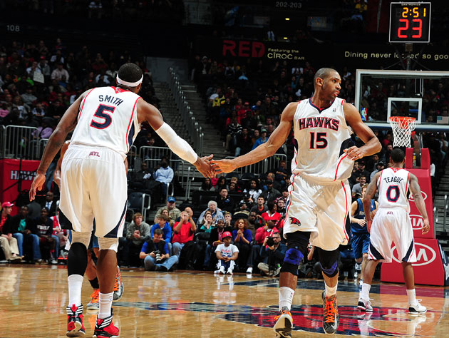 Josh Smith and Al Horford may be entering their final month as teammates (Getty Images)