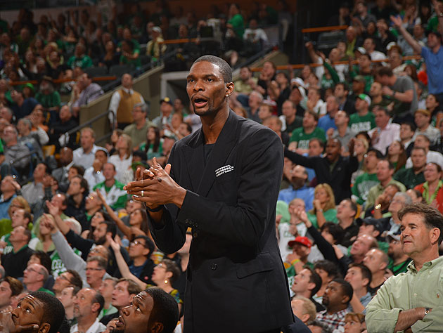 After three weeks on the bench, Chris Bosh may return to the Heat lineup Tuesday. (Getty Images)