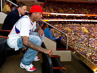Allen Iverson yells so loud. (Photo via Mark Tanno, M&C Saatchi PR)