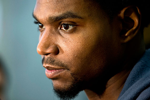 Andrew Bynum's status is no laughing matter for the 76ers. (AP)