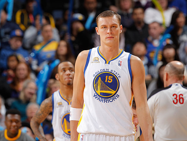 Andris Biedrins stares icily into the middle distance. (Getty Images)