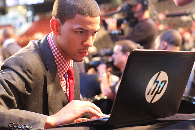 Austin Rivers checks in. (Getty Images)