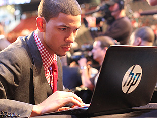 Austin Rivers 'surfs' the 'Net.' (Getty Images)
