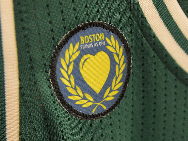 The patch the Boston Celtics will be sporting throughout the playoffs (Getty Images)