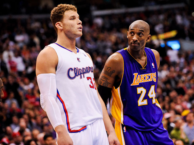 Kobe Bryant silently judges Blake Griffin (Getty Images)
