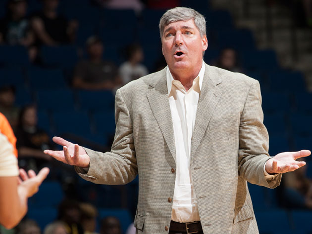 Bill Laimbeer doesn't understand the call. (Getty Images)