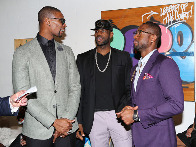 Miami's big three wear outfits they most certainly won't regret (Getty Images)