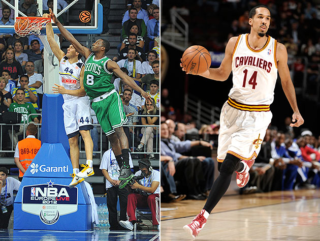 Bojan Bogdanovic (dunking) and Shaun Livingston are Brooklyn-bound. (NBAE/Getty Images)