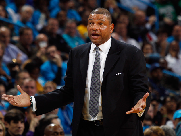 Boston Celtics coach Doc Rivers is at a loss. (Getty Images)