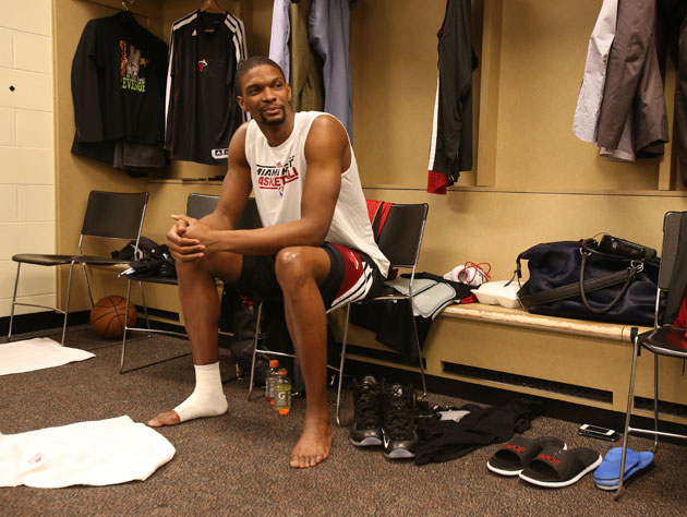 Chris Bosh, in the hours before letting everyone down (Getty Images)
