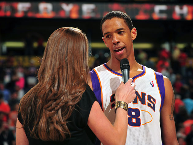 Channing Frye, following his penultimate game in 2011-12 (Getty Images)