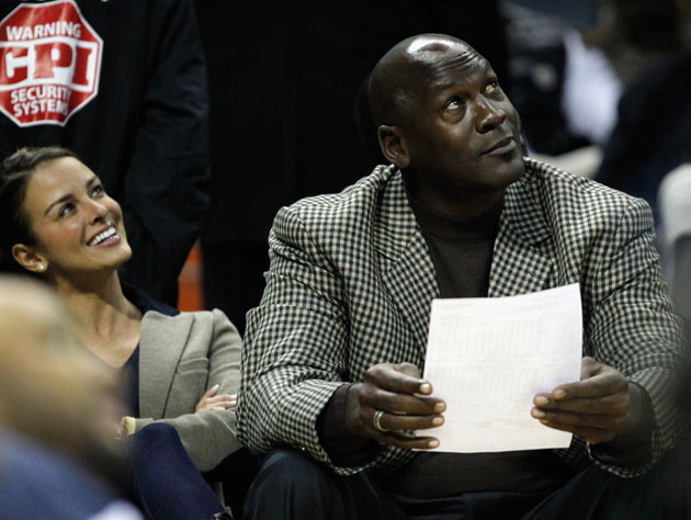 Michael Jordan enjoys the scoreboard entertainment because the box score hurts so much (Getty Images)