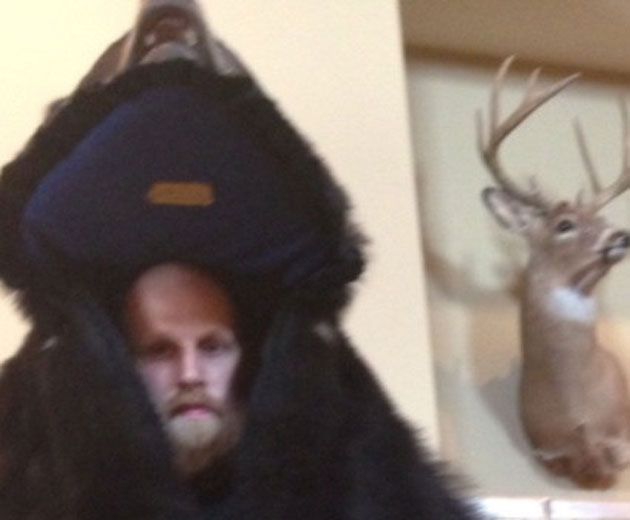Chris Kaman, bear suit, buck. (Courtesy twitter.com/ChrisKaman)