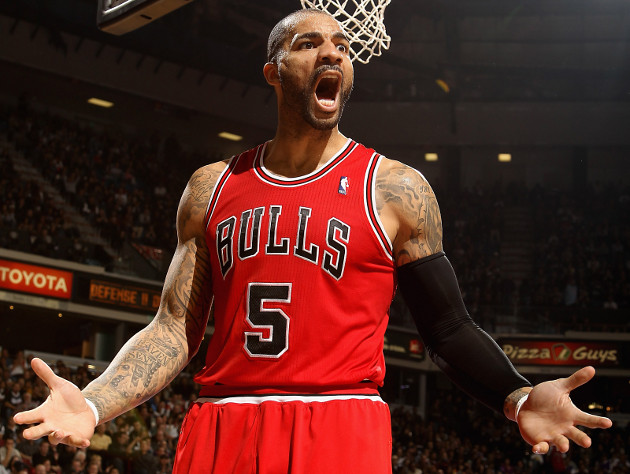 Carlos Boozer totally had that DVR'd, you monster! (Getty Images)