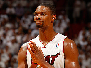 Chris Bosh pleads. (Getty Images)