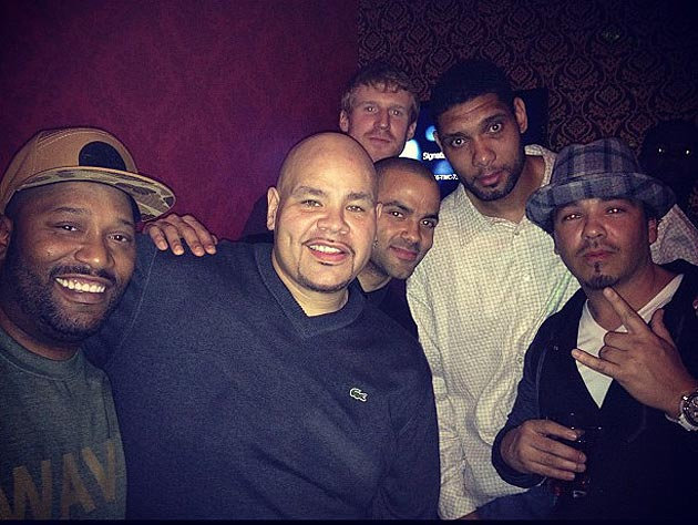 'Classic NBA and HIPHOP Come 2gether !!!' (Photo via Fat Joe's Instagram, obviously.)