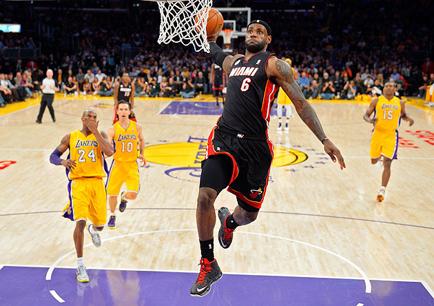 Could a big enough check for charity get LeBron to enter the Dunk Contest? (AP/Mark J. Terrill)