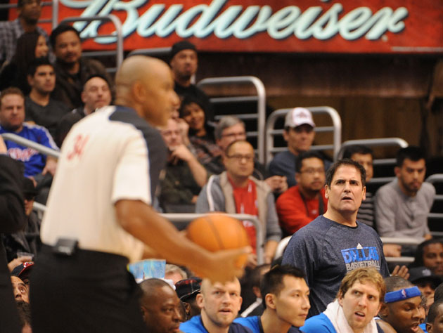 Mark Cuban in a famaliar pose (Getty Images)