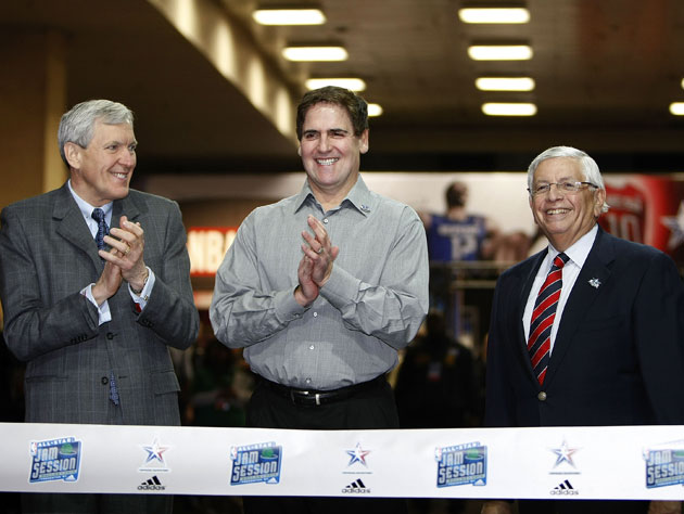 Mark Cuban, David Stern, and unidentified rich guy are all about to get rich(er) Getty Images