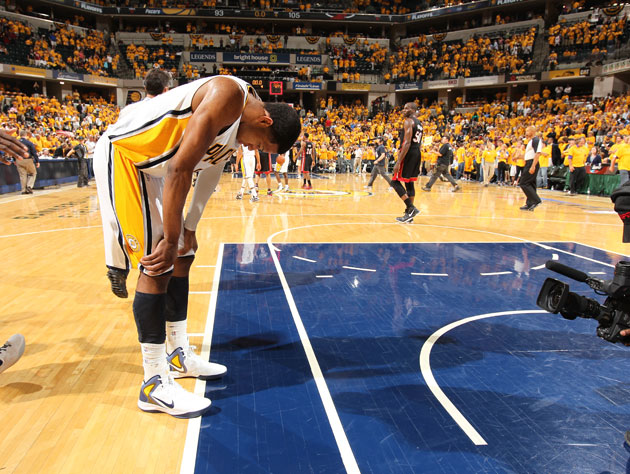 Danny Granger, towards the end of Thursday's Game 6 (Getty Images)