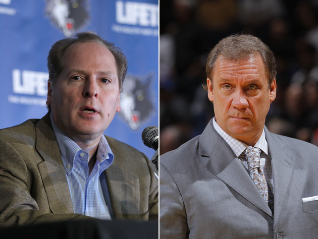 David Kahn could be out, and Flip Saunders reportedly is in (Getty Images)