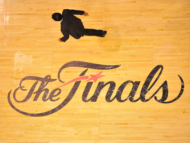 You can buy this actual court, as pictured before Game 5 of the 2011 NBA Finals (Getty Images)