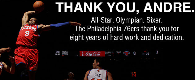 The 76ers' online goodbye to Andre Iguodala (Courtesy NBA.com/Sixers)