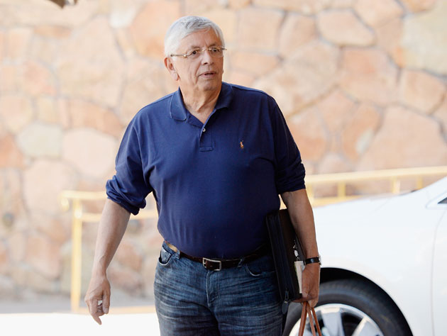 David Stern prepares to align the message (Getty Images)