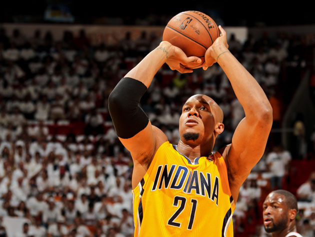 David West lines one up in Game 2 (Getty Images)