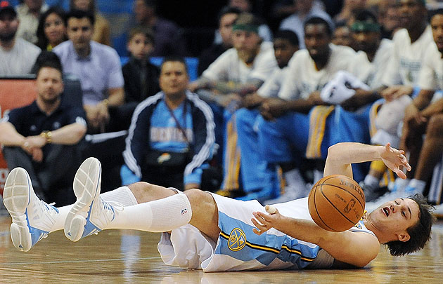 Danilo Gallinari, down in form as well as spirit. (AP)