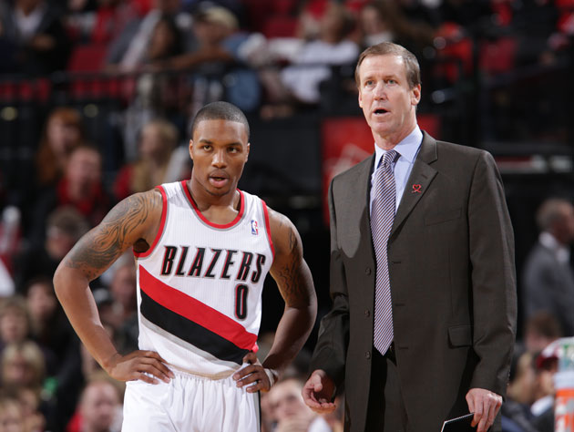 Damian Lillard and Terry Stotts consider what's ahead of them (Getty Images)