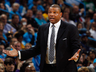 Doc Rivers, coach of the Boston Celtics, doesn't know what to tell you, man. (Getty Images)