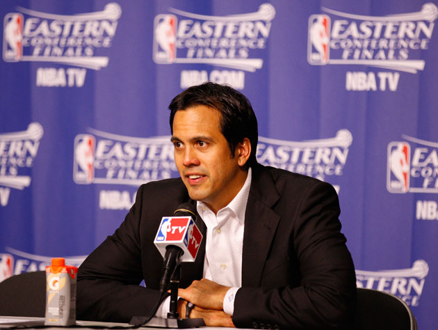 Erik Spoelstra, hydrated (Getty Images)