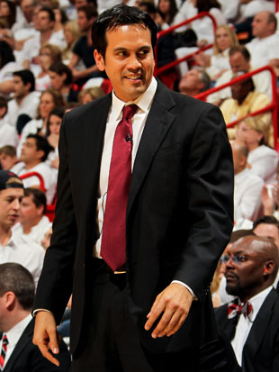 Erik Spoelstra has as many options as Keith Askins has bowties (Getty Images)
