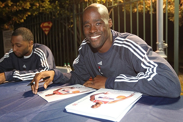 Early in the evening, Emeka Okafor smiled. Later, he'd be crushed. (Photo via NBA.com/wizards)