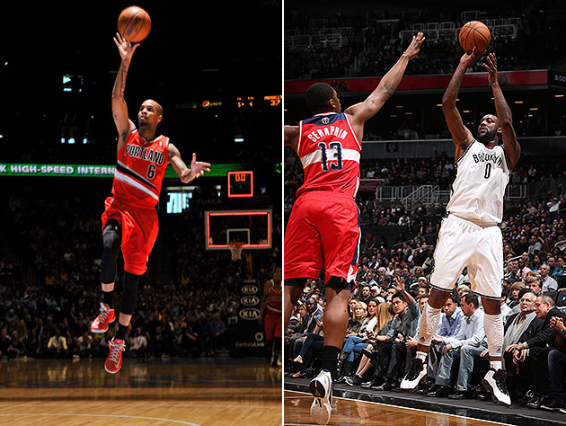 Eric Maynor floats into D.C., while Andray Blatche puts another one over on the Wiz. (Getty Images)