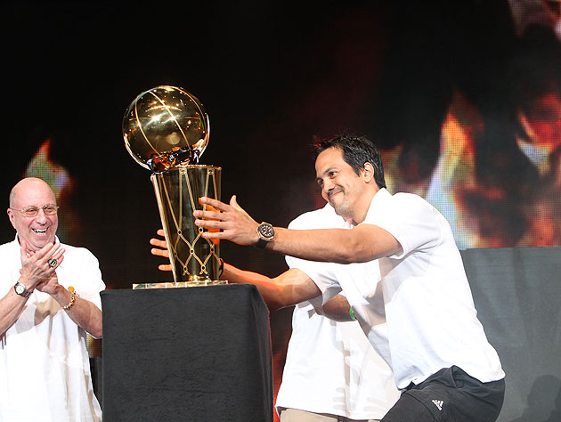 Erik Spoelstra likes the real thing even better. (Getty Images)